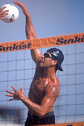 AVP Professional Beach Volleyballl - Huntington Beach, CA - 1998 - Eric Fonoimoana -  Photo by Wally Nell/Volleyball Magazine