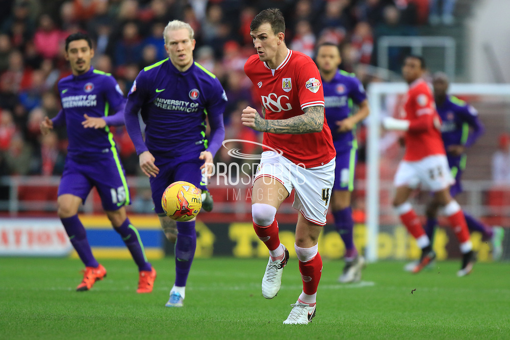 Bristol City defender Aden Flint during the Sky Bet Championship match between Bristol City and Charlton Athletic at Ashton Gate, Bristol, England on 26 December 2015. Photo by Jemma Phillips.