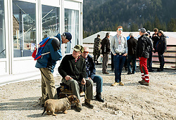 Spectators during first test of renovated Ski jumping Flying Hill 1 day before FIS World Cup Ski Jumping Final, on March 18, 2015 in Planica, Slovenia. Photo by Vid Ponikvar / Sportida