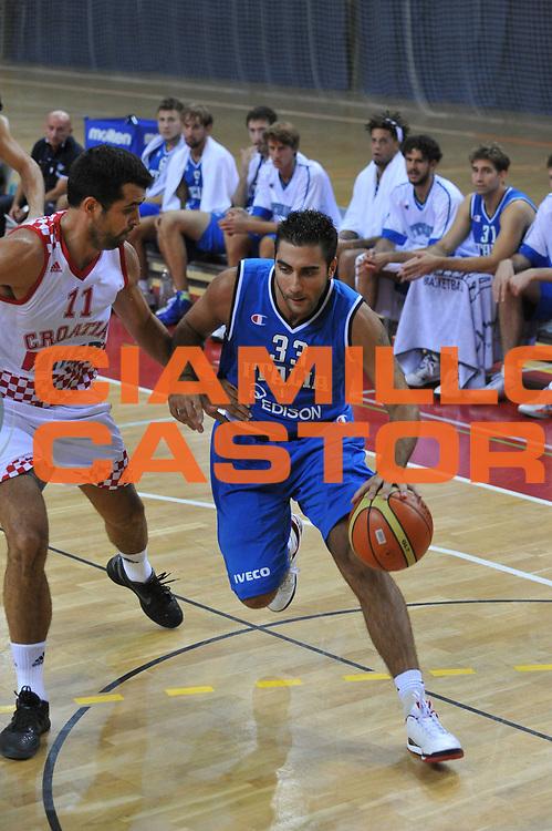 DESCRIZIONE : Porec Amichevole Croazia Italia<br /> GIOCATORE : pietro aradori<br /> CATEGORIA : palleggio<br /> SQUADRA : Nazionale Italia Maschile<br /> EVENTO : Amichevole Italia Croazia<br /> GARA : Italia Croazia<br /> DATA : 09/08/2012<br /> SPORT : Pallacanestro<br /> AUTORE : Agenzia Ciamillo-Castoria/C.De Massis<br /> Galleria : FIP Nazionali 2012<br /> Fotonotizia :  Trieste Amichevole Croazia Italia<br /> Predefinita :