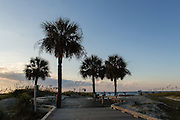 Entrance to Coligny Circle Public Beach on Hilton Head Island, SC