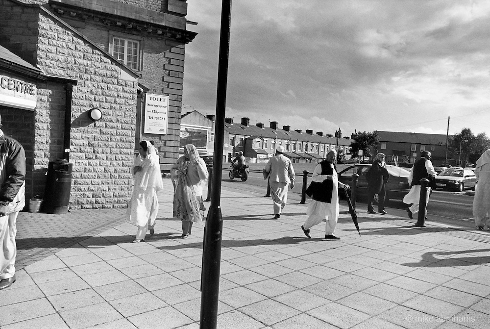 Bradford, in Yorkshire, is home to  the largest Muslim polulatiuon in Britain with some 75,000 lured by employment offered in the mills in the 1950's. Asian Muslims make up 18% of the population and there are sixty mosques in the town.