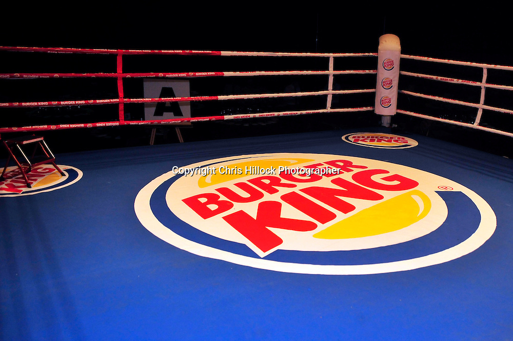 Sponsors Burger King. Boxing  - Burger King Road to the Title - Parker v Pettaway, Vodafone Events Centre, 5 March 2015 copyright photo Chris Hillock/www.photosport.co.nz