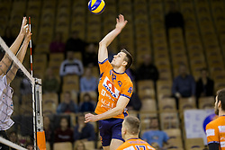 during Volleyball match between AHC Volley and Calcit Volley in Round #3 in blue group of Slovenian first league, on March 17, 2018 in Tivoli Sports Hall, Ljubljana, Slovenia. Photo by Urban Urbanc / SportidaMatej Kok of ACH Volley during Volleyball match between AHC Volley and Calcit Volley in Round #3 in blue group of Slovenian first league, on March 17, 2018 in Tivoli Sports Hall, Ljubljana, Slovenia. Photo by Urban Urbanc / Sportida