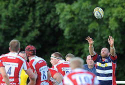 Rob Hawkins of Bristol United throws the ball in a line-out - Mandatory by-line: Paul Knight/JMP - 02/10/2016 - RUGBY - Hyde Park - Taunton, England - Bristol United v Gloucester United - Aviva A League