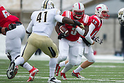 DALLAS, TX - DECEMBER 7: Kevin Pope #3 of the SMU Mustangs breaks free against the Central Florida Knights on December 7, 2013 at Gerald J. Ford Stadium in Dallas, Texas.  (Photo by Cooper Neill) *** Local Caption *** Kevin Pope