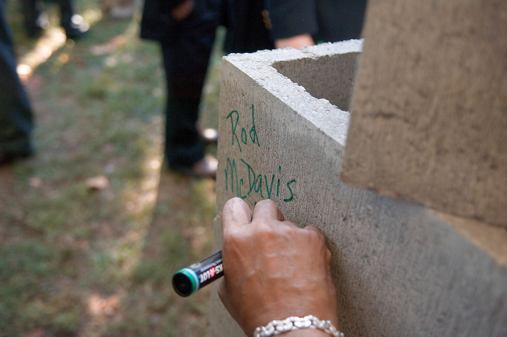 18414Academic & Research Center Groundbreaking September 29, 2007..President McDavis, Mrs. McDavis