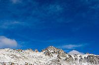 The Enchantment Peaks after a Autumn snow storm, Enchantment Lakes Wilderness Area, Washington Cascades, USA.