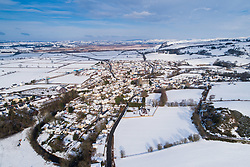 © Licensed to London News Pictures. 1/02/2019. Tregaron, UK. The rural village of Tregaron in Ceredigion , mid Wales, under a blanket of snow. Photo credit: Keith Morris/LNP