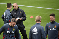 October 2, 2017 - Tubize, BELGIUM - Belgium's Thomas Vermaelen and Belgium's head coach Roberto Martinez pictured during a training of Belgian national soccer team Red Devils, Monday 02 October 2017 in Tubize. The Red Devils will play a World Championships 2018 Qualification game against Bosnia on October 7th and against Cyprus on October 10th. BELGA PHOTO DIRK WAEM (Credit Image: © Dirk Waem/Belga via ZUMA Press)