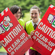 03.04.2017        <br /> Laurel Hill Secondary School, Limerick takes part in TLC3. <br /> Pictured are students, Sara O'Donnell and Simona Malkova. Picture: Alan Place.