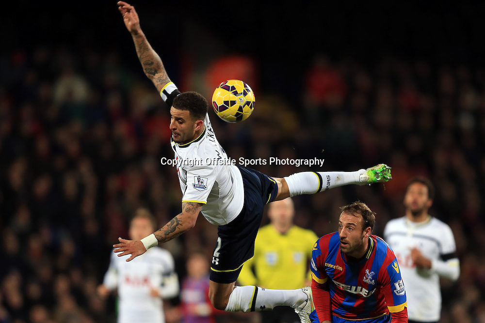 10 January 2015 - Barclays Premier League - Crystal Palace v Tottenham Hotspur - Kyle Walker of Tottenham Hotspur in action with Glenn Murray of Crystal Palace - Photo: Marc Atkins / Offside.