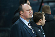Newcastle United Manager Rafa Benitez  during the EFL Sky Bet Championship match between Newcastle United and Aston Villa at St. James's Park, Newcastle, England on 20 February 2017. Photo by Simon Davies.