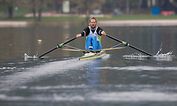 Luka Spik during media day of Slovenian National rowing team before World Championships in New Zealand 2010 on October 14, 2010 in Mala Zaka, Bled, Slovenia. (Photo by Vid Ponikvar / Sportida)