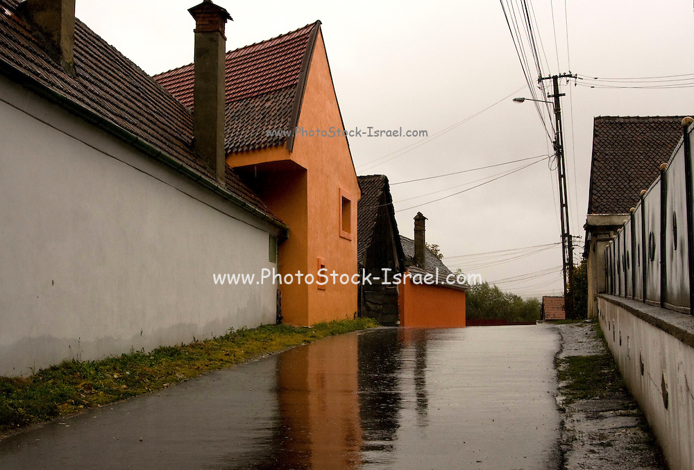 Romania, street in a village