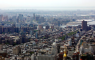 UNITED STATES-NEW YORK-View from The Empire State Building. PHOTO: GERRIT DE HEUS.VERENIGDE STATEN-NEW YORK. Uitzicht vanaf Het Empire State Building. PHOTO  GERRIT DE HEUS