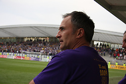 Coach of Maribor Darko Milanic at last football match of PrvaLiga Telekom Slovenije between NK Maribor and NK Interblock, when Maribor became a Slovenian National Champion, on May 23, 2009, in Ljudski vrt, Maribor. (Photo by Marjan Kelner/Sportida)