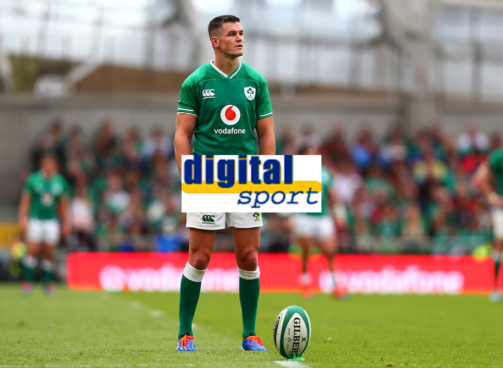 Rugby Union - 2019 pre-Rugby World Cup warm-up (Guinness Summer Series) - Ireland vs. Wales<br /> <br /> Jonathan Sexton (Ireland) lines up a conversion at The Aviva Stadium.<br /> <br /> COLORSPORT/KEN SUTTON