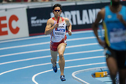 08.03.2014, Ergo Arena, Sopot, POL, IAAF, Leichtathletik Indoor WM, Sopot 2014, im Bild YUZO KANEMARU 4X400 m // YUZO KANEMARU 4X400 m during day two of IAAF World Indoor Championships Sopot 2014 at the Ergo Arena in Sopot, Poland on 2014/03/08. EXPA Pictures © 2014, PhotoCredit: EXPA/ Newspix/ Radoslaw Jozwiak<br /> <br /> *****ATTENTION - for AUT, SLO, CRO, SRB, BIH, MAZ, TUR, SUI, SWE only*****