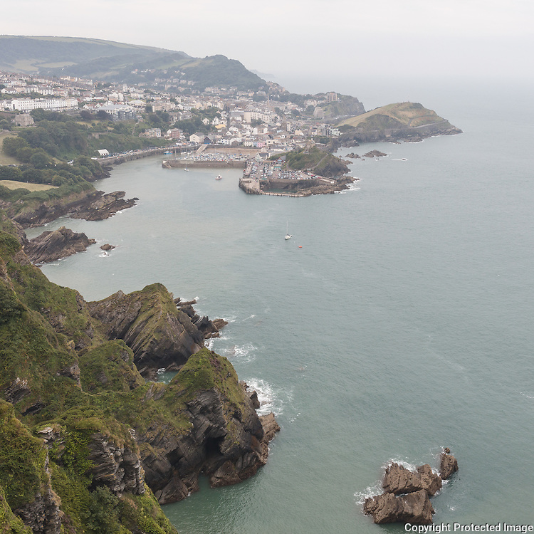 Ilfracombe from Beacon Point, Devon.