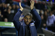 Brighton manager Chris Hughton during the Sky Bet Championship match between Reading and Brighton and Hove Albion at the Madejski Stadium, Reading, England on 10 March 2015.