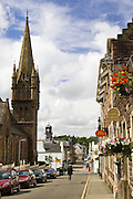 Stornoway high street, Outer Hebrides, United Kingdom