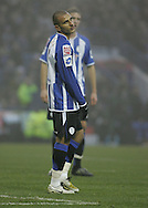 Sheffield - Sunday November 29th, 2008: Marcus Tudgay of Sheffield Wednesday looks dejected after giving away a penalty to Norwich City during the Coca Cola Championship match at Hillsborough, Sheffield. (Pic by Michael Sedgwick/Focus Images)