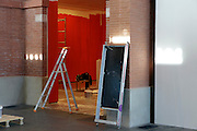 museum room installation preparing for new show