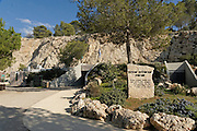 Israel, Judea mountains, the entrance to the Soreq Cave Nature Reserve (also called Avshalom Cave) a Stalactite cave