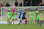 Forest Green Rovers goalkeeper Sam Russell(23) catches the ball during the Vanarama National League match between Forest Green Rovers and Macclesfield Town at the New Lawn, Forest Green, United Kingdom on 4 March 2017. Photo by Shane Healey.