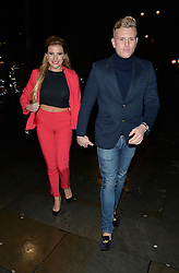 Georgia Kousoulou and Tommy Mallett attend the TOWIE Christmas party and the Crypt club in St Martins Lane. London.UK. 11/12/2014<br /> <br /> BYLINE MUST READ : GOTCHAIMAGES.COM<br /> <br /> Copyright by © Gotcha Images Ltd. All rights reserved.<br /> Usage of this image is conditional upon the acceptance <br /> of Gotcha Images Ltd, terms and conditions available at<br /> www.gotchaimages.com