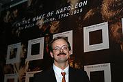 Opening van de Tentoonstelling Voor Napoleon. Hollanders in oorlogstijd, 1792-1815 in het Legermuseum, Delft.<br /> De tentoonstelling is op 13 oktober geopend door Charles Napoléon, le Prince, een directe afstammeling van Napoleon Bonaparte.  <br /> <br /> Op de foto:<br /> <br /> <br /> <br /> <br /> Mark van Hattem, conservator van het legermuseum