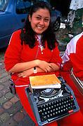 ECUADOR, QUITO, EDUCATION highschool students, typing class