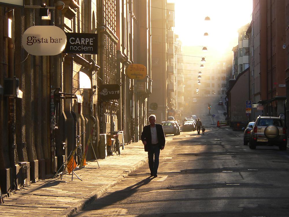 Early morning on Bondegatan in Stockholm