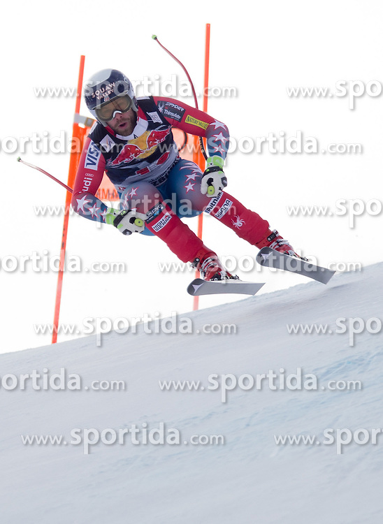 19.01.2016, Streif, Kitzbuehel, AUT, FIS Weltcup Ski Alpin, Kitzbuehel, 1. Abfahrtstraining, Herren, im Bild Travis Ganong (USA) // Travis Ganong of the USA in action during 1st Training of the men's Downhill Race of Kitzbuehel FIS Ski Alpine World Cup at the Streif in Kitzbuehel, Austria on 2016/01/19. EXPA Pictures © 2016, PhotoCredit: EXPA/ Johann Groder