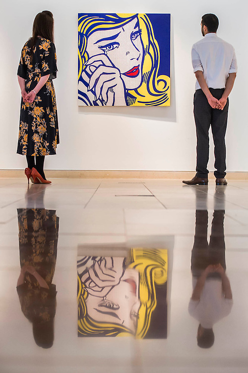 ROY LICHTENSTEIN (1923-1997)<br /> Crying Girl (centre), <br /> Executed in 1964. This work is number four from an edition of five.<br /> Estimate: $7,000,000-9,000,000 - Christie's showcases  the London Post-War and Contemporary Art Evening Sale in October, alongside an exceptional selection of works from the  New York sales in November of Impressionist, Modern, Post-War And  Contemporary Art. The works will be on view to the public from Saturday 10 October to Saturday 17 October at Christie's King Street. The highlight is  Amedeo Modigliani's, 'Nu couché (Reclining  Nude)', painted in 1917-18, which has an estimate in the region of $100 million.