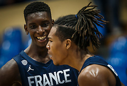 Diabate  Moussa of France and Begarin  Juhann of France during basketball match between National teams of Slovenia and France in the Group Phase C of FIBA U18 European Championship 2019, on July 27, 2019 in Nea Ionia Hall, Volos, Greece. Photo by Vid Ponikvar / Sportida