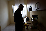 Bissam makes breakfast in his home in Turkey. After leaving Iraq he spent seven years of his life as a refugee between Syria and Turkey, before finally being able to restart his life in 2013 when he was resettled to the USA.