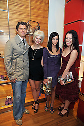 Left to right, ANTHONY KENNEDY SHRIVER, PIXIE GELDOF, LEIGH LEZARK and KATIE GRAND at a party in aid of the charity Best Buddies held at the Hogan store, 10 Sloane Street, London SW10 on 13th May 2009.