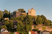 Lindenfels mit Burg Lindenfels, Odenwald, Hessen, Deutschland | Lindenfels with Burg Lindenfels, Odenwald, Hesse, Germany