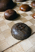 Carved wooden bowl, Omoa village, Fatu Hiva, Marquesas, French Polynesia