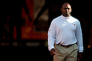 AUSTIN, TX - AUGUST 30:  Texas Longhorns head coach Charlie Strong enters the field before kickoff against the North Texas Mean Green on August 30, 2014 at Darrell K Royal-Texas Memorial Stadium in Austin, Texas.  (Photo by Cooper Neill/Getty Images) *** Local Caption *** Charlie Strong
