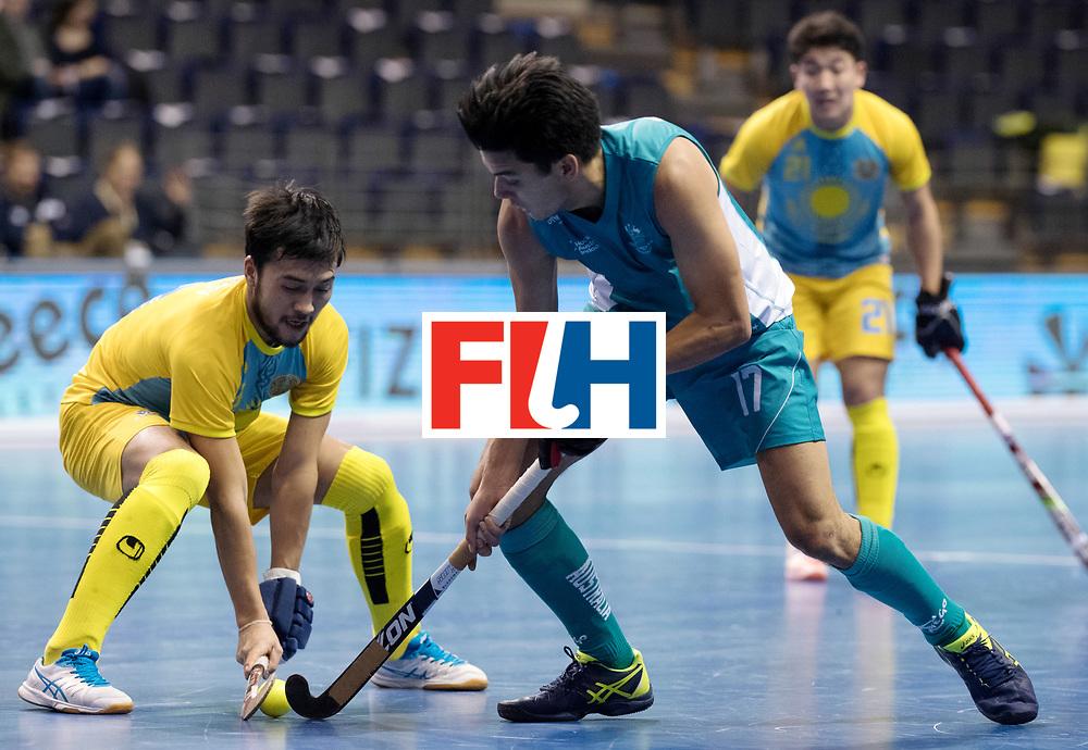 BERLIN - Indoor Hockey World Cup<br /> Men: Australia - Kazakhstan<br /> foto: ZHOKENBAYEV Maxat.<br /> WORLDSPORTPICS COPYRIGHT FRANK UIJLENBROEK