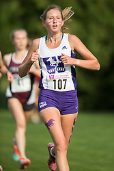 Stephanie Nevison of the Western Mustangs  competes in the women's 5k  at the 2015 Western International Cross country meet in London Ontario, Saturday,  September 26, 2015.<br /> Mundo Sport Images/ Geoff Robins