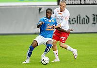 Fotball ,  22. juni 2008 , Privatkamp , Fredrikstad - Lyn<br /> Odion Jude Ighalo , Lyn og Patrik Gerrbrand, FFK