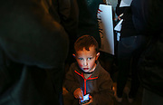 A young boy in the crowd at Republican presidential candidate, Sen. Ted Cruz's  meet and greet at Theo's Pizza and Restaurant in Manchester, N.H. Thursday, Jan. 21, 2016.  CREDIT: Cheryl Senter for The New York Times Ted Cruz