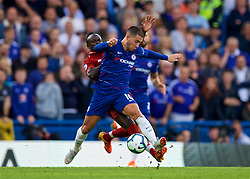 LONDON, ENGLAND - Saturday, September 29, 2018: Chelsea's Eden Hazard and Liverpool's Sadio Mane during the FA Premier League match between Chelsea FC and Liverpool FC at Stamford Bridge. (Pic by David Rawcliffe/Propaganda)