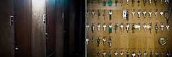 LEFT: Doors of a cheap motel where many day labors and welfare recipients live are seen in Osaka, Japan.<br />