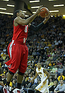 January 04 2010: Ohio State Buckeyes forward Jared Sullinger (0) pulls down a rebound during the first half of an NCAA college basketball game at Carver-Hawkeye Arena in Iowa City, Iowa on January 04, 2010. Ohio State defeated Iowa 73-68.