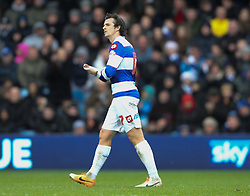 Queen Park Rangers' Joey Barton leaves the pitch after bein sent off - Photo mandatory by-line: Robin White/JMP - Tel: Mobile: 07966 386802 21/12/2013 - SPORT - FOOTBALL - Loftus Road - London - Queens Park Rangers v Leicester City - Sky Bet Championship
